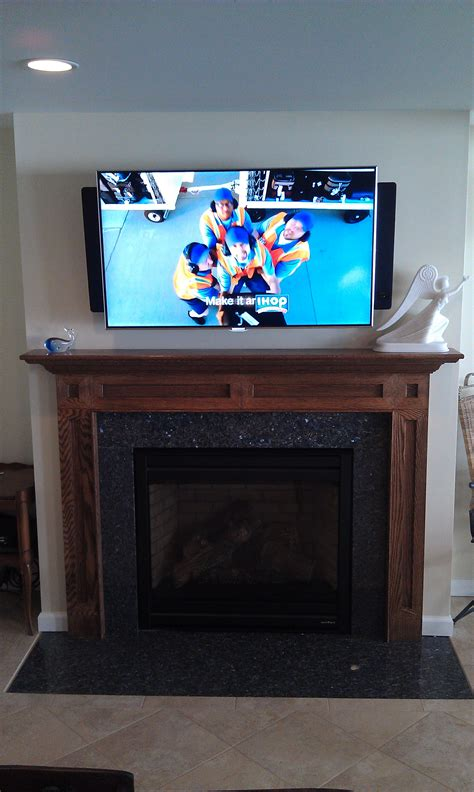 mounted tv fireplace durham ct mount tv above fireplace richey llc audio experts
