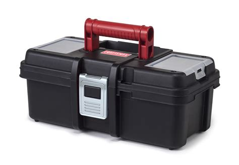 tool box craftsman 13 inch tool box with tray black red