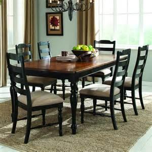 Black Brown Dining Table Set Homelegance Mckean Extension Dining Table In Black Brown Beyond Stores