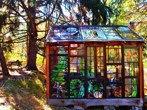 Gothic Victorian Homes artist builds incredible stained glass cabin in the middle