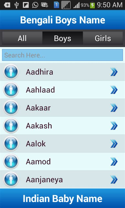 names for indian baby names and meaning android apps on play