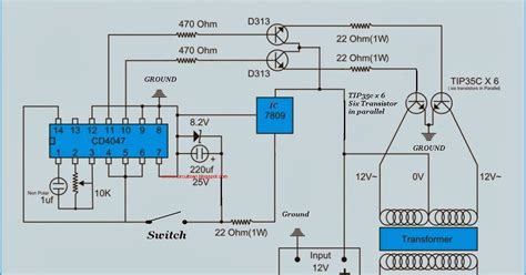 Ac Yang Watt Nya Kecil muhazir technology journal rangkaian inverter 12v dc to