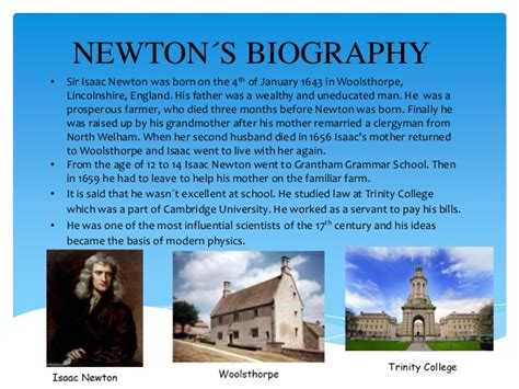 biography of isaac newton in short newton and his universal theory of gravitation