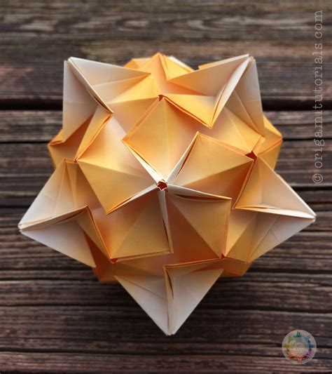 Easy Origami With Regular Paper - tributary kusudama tutorial origami tutorials