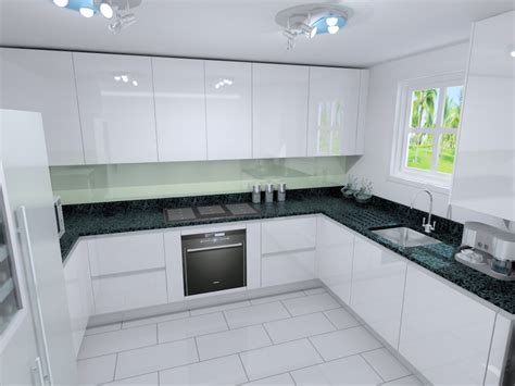 Glass Design For Kitchen Cabinets by Polar White Lacquer Kitchens From Lwk Kitchens