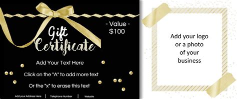 Customizable Gift Card Template by Free Customizable Gift Certificate Template