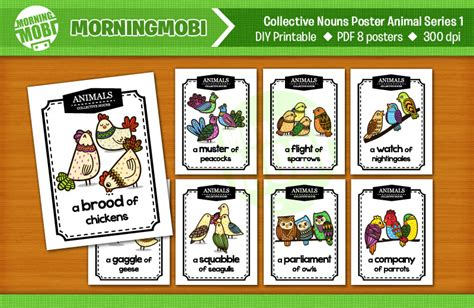 Muster Collective Noun Educational Posters For Your Class Morningmobi