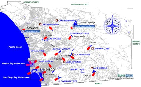 southern lakes  rivers san diego county