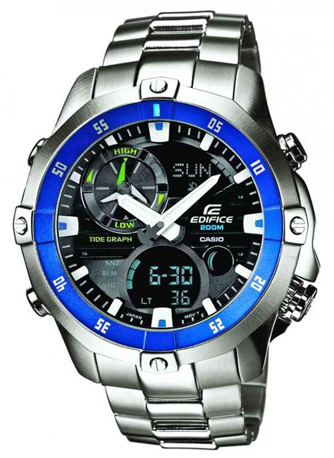Casio Edifice Ema 100d casio edifice stainless steel moonphase temperature sports