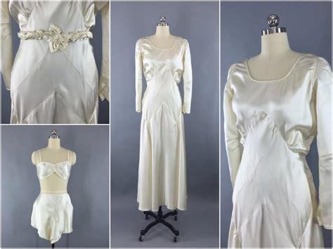 Vintage 30 S Wedding Dresses by Vintage 1930s Wedding Dress 30s Bias Cut Dress 1920s
