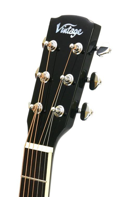 Vintage Jumbo vintage vecj100bk jumbo electro acoustic guitar