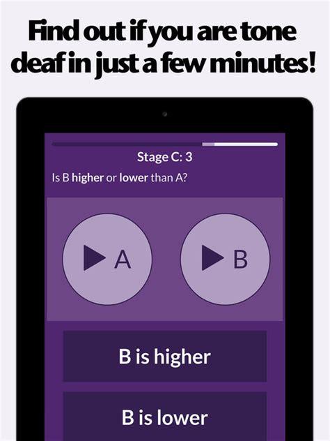 Tone Deaf tone deaf test check for pitch deafness apprecs