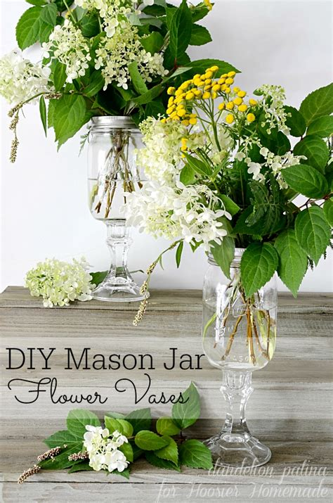 Hydrangeas In Vase Pictures Diy Mason Jar Vases Hoosier Homemade