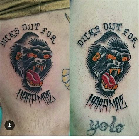 tattoo express out for harambe by tattoosbyroballman at