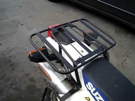 suzuki dr 650 rear cargo rack and soft bag support rack