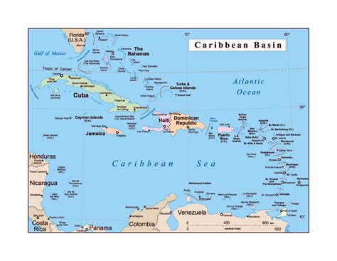 map of the us islands detailed political map of the caribbean basin us