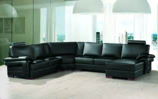 Sectional Sofa Taking Care The Modern Black Leather Sectional S3net
