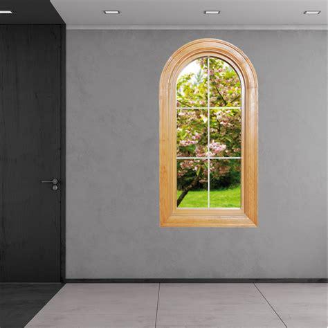 Fototapete Fenster Garten by Stickers Fen 234 Tre Trompe L Oeil Pas Cher