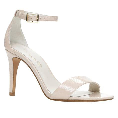 aldo high heel sandals aldo ibenama ankle high heel sandals in white lyst