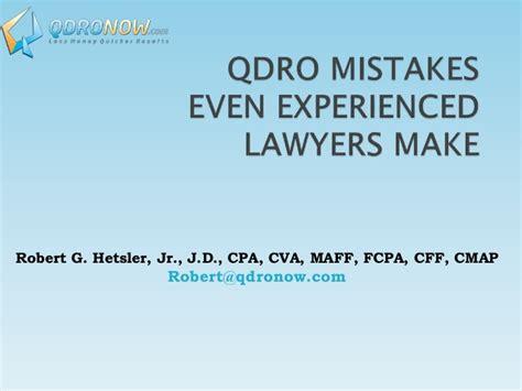 Florida Coastal School Of Jd Mba by Qdro Mistakes Class Taught At Florida Coastal School Of