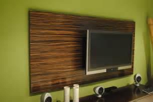 tv panel design hand made macassar ebony wood wall tv panel by paradigm
