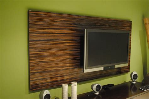 tv wall panel hand made macassar ebony wood wall tv panel by paradigm