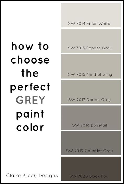 how to choose paint how to choose the perfect grey paint color pinterest
