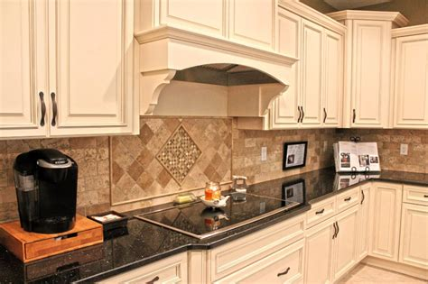 Kitchen Cabinet Hoods Fabuwood Cabinetry Wellington Ivory Finish Wellington Spice Two Tone Kitchen Cabinets Two