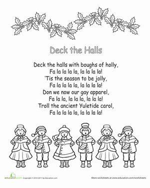 deck  halls printable lyrics christmas lyrics christmas songs lyrics christmas carols songs