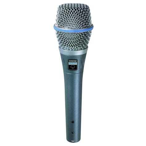 applications of capacitor microphone shure beta 87a supercardioid condenser microphone for handheld vocal applications