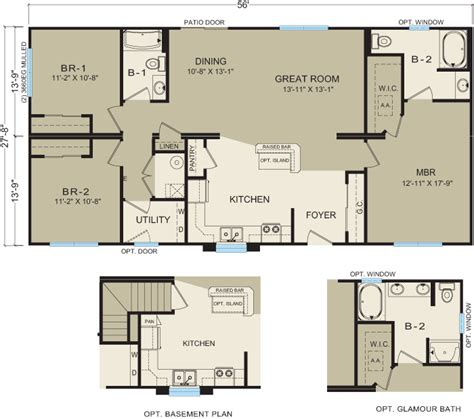 modular floor plans and prices michigan modular homes 3633 prices floor plans