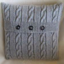 A4 knitting pattern aran style cabled knitted cushion cover 4