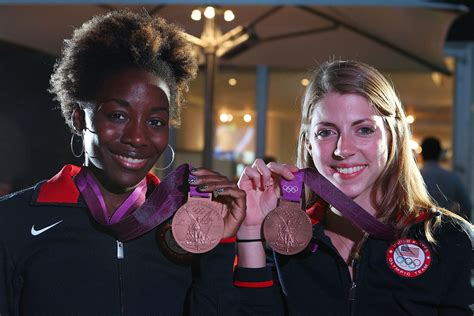 Olympic Eve Lawrence | us olympic athlete medalists visit usa house pictures