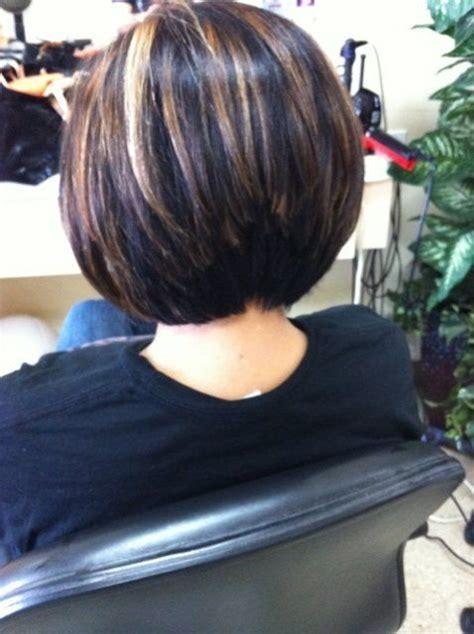 layered bobs with highlights stacked layered bob haircuts line bob haircut and