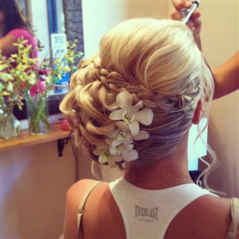 bridal hairstyles on facebook bridal updo side chignon with braid facebook com