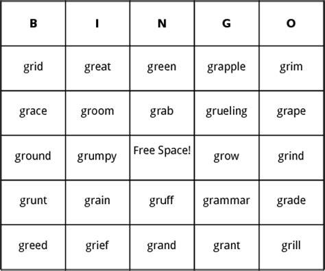 Gr blends bingo by bingo card template