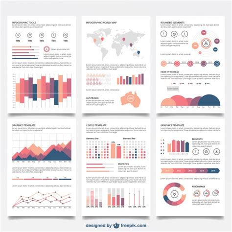 infographics brochure layout infographic brochures vector free download