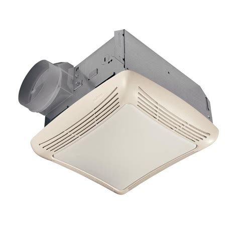 nutone bathroom fan light nutone 50 cfm ceiling exhaust bath fan with light 763n