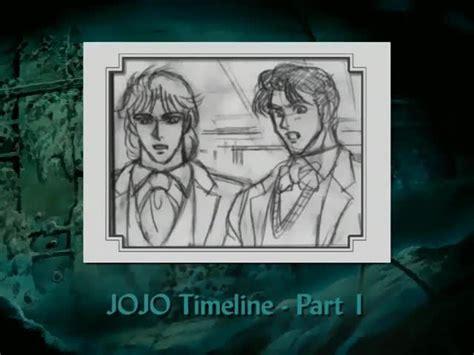 jojo anime timeline jojo s adventure jojo timeline special episode 1