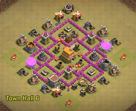 layout coc war base th6 10 immortal th6 war base layouts for town hall 6 with 2