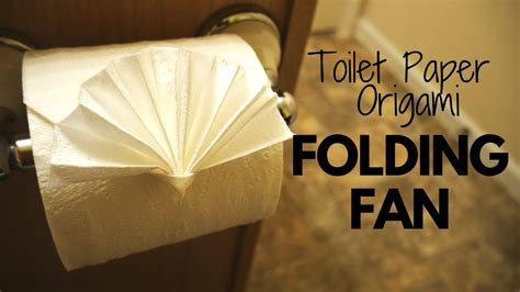 Origami Toilet Paper - how to make toilet paper origami folding fan easy
