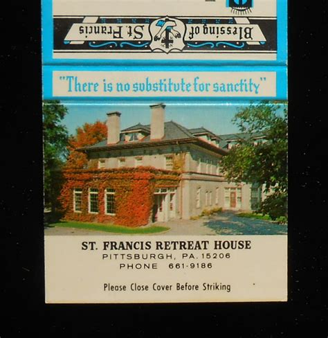 st francis retreat house 1960s matchbook st francis retreat house ivy on the wall pittsburgh pa ebay