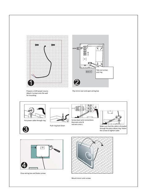 wiring diagram led mirrors wiring diagram and schematics