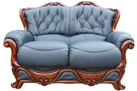 Blue Italian Leather Sofa Illinois 2 Seater Italian Leather Sofa Settee Offer Blue