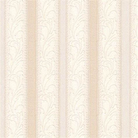 shop style selections beige textured floral stripe wallpaper at lowes