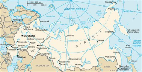 map of russia with cities rivers and mountains geography for russia