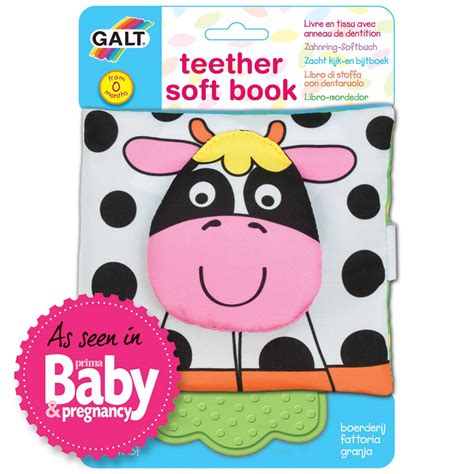 teether soft book farm books baby toddler galt toys