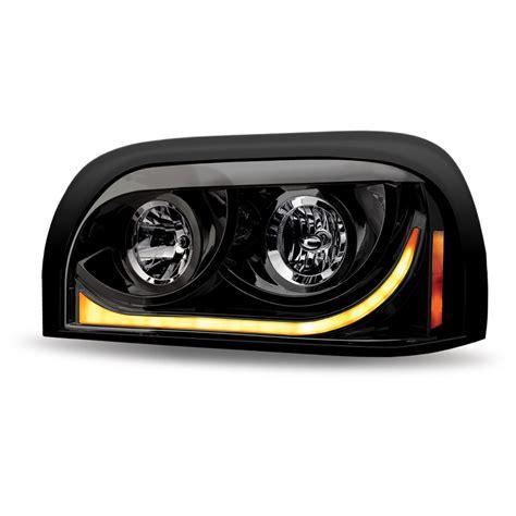 ftl century black halogen headlight assembly driver side freightliner century headlight