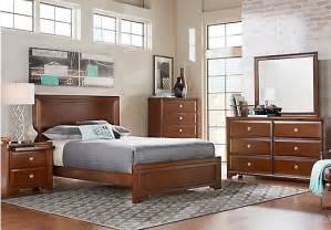 bedroom to go belcourt queen dark cherry 5pc panel bedroom bedroom sets