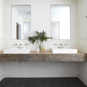 Gooseneck Sconce Reclaimed Wood Bathroom Vanity Design Ideas